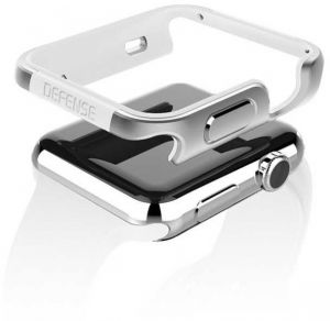 X-Doria Defense Edge Case 42mm for Apple Watch - Silver (Machined Metal Guard)