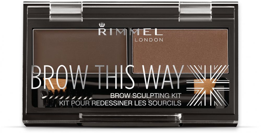 Rimmel London Brow This Way Eyebrow Sculpting Kit - Dark Brown