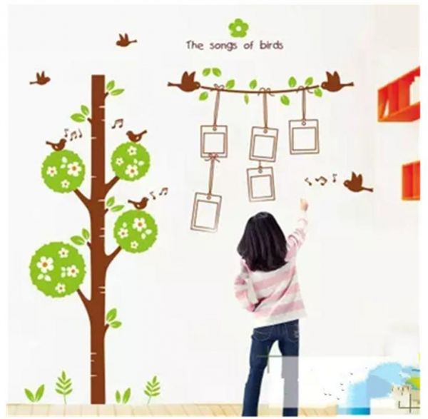 Family Tree Wall Decal  Peel & stick vinyl sheet, easy to install & apply  history decor mural for home, bedroom stencil decoration  DIY Photo Gallery