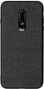 f395d17b490a Oneplus 6T mobile phone case canvas pattern for Oneplus6T 6.41-inch  protective cover soft edge hard shell original simple style-Black
