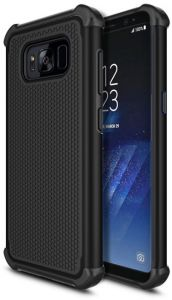 Samsung Galaxy S8 Case, Shock Absorbing Hybrid Rubber Plastic Impact Defender Rugged Slim Hard Case Cover Shell for Samsung Galaxy S8,Black