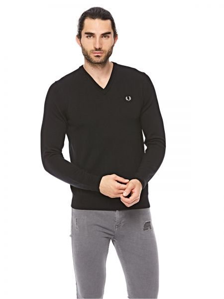 d580763ad Fred Perry Classic V Neck Polo For Men - Black