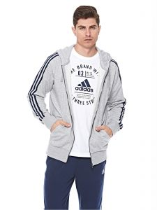 6231adab85ca adidas Essential 3S Full Zip French Terry Jacket For Men