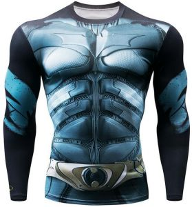 37f4a42495eb Cycling Fitness Base Layer Compression Shirt Men Anime Bodybuilding Long  Sleeve Crossfit 3D Super hero BATMAN printed tops cycling top Bicycle  Clothing