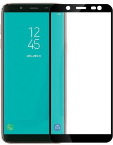 Screen Protectors for Samsung Galaxy J8 2018 6.0 Inch 3D Curved Glass Coverage Full Glue Tempered Glass Screen Protector 5D Glass Shield Black