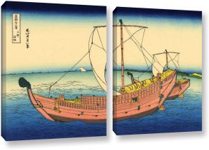 Art Wall Katsushika Hokusai s The Kazusa Province Sea Route 2 Piece Gallery  Wrapped Canvas Set Artwork 7d9d5ae3f9bdd