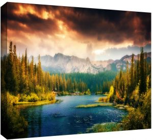 36 x 72 ArtWall William Turners Sunset Fighting Bucks 3 Piece Gallery Wrapped Canvas Set