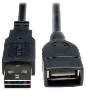 Tripp Lite Universal Reversible USB 2.0 Hi-Speed Extension Cable (Reversible A to A) 6-in.(UR024-06N)