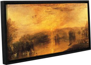 ArtWall 2-Piece Cody Yorks Cleveland 17 Floater Framed Canvas Set 32 by 48-Inch