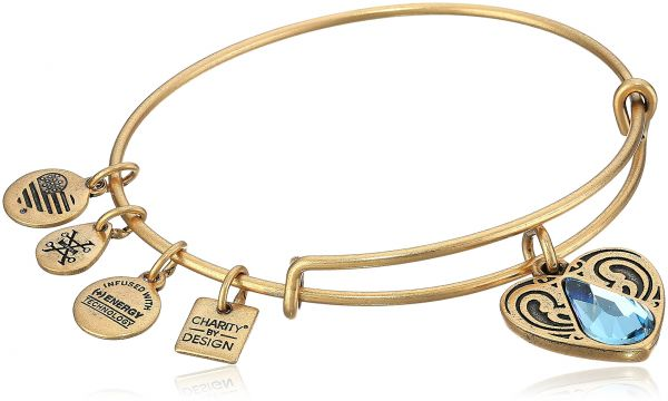 955f8a6830c Alex and Ani Charity By Design Living Water II Rafaelian Gold Bangle  Bracelet