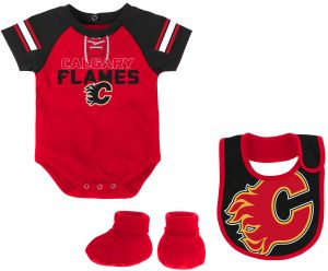 Smart Nhl Chicago Blackhawks Bodysuit Romper Jumpsuit Outfits 3 Piece Set Newborn Kids Boys' Clothing (newborn-5t) Sporting Goods