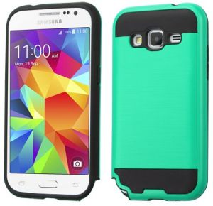 purchase cheap 46731 10b90 Asmyna Cell Phone Case for Samsung Galaxy G360/Core Prime - Retail  Packaging - Black/Green/Teal