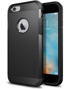 4edb1589c4d5 Spigen Tough Armor iPhone 6S Case with Extreme Heavy Duty Protection and  Air Cushion Techonology for iPhone 6S iPhone 6 - Black