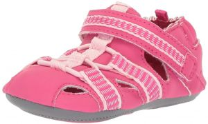 Robeez Girls  Sandal-Mini Shoez Crib Shoe, Wave Catcher-Hot Pink, 18-24  Months M US Infant 73c75f1346f2