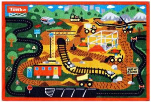Gertmenian Tonka Gravel Pit Rug Set 1 Toy Truck Kids Bedding Play Mat Multi Color 32 X 44