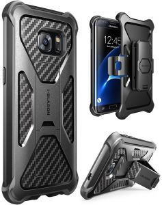 Galaxy S7 Edge Case, i-Blason Prime [Kickstand] Samsung Galaxy S7 Edge 2016 Release [Heavy Duty] [Dual Layer] Combo Holster Cover case with [Locking Belt ...