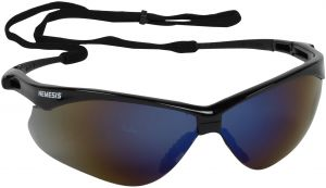 34d345e2e318 Jackson Safety Nemesis CSA Safety Glasses (20382), CSA Certified, Blue  Mirror Lens with Black Frame, Pack of 12