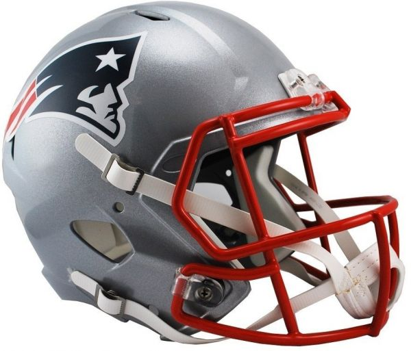 a685f29176e Riddell NFL New England Patriots Full Size Replica Speed Helmet ...