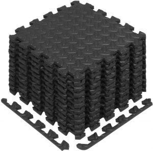 quality design efbdd 8795f Yes4All Interlocking Exercise Foam Mats with Border - Interlocking Floor  Mats for Gym Equipment - Eva Interlocking Floor Tiles (12 Square Feet,  Black)
