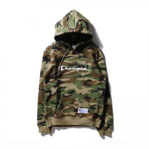 Champion Army Green Round Neck Hoodies For Women 333113694c