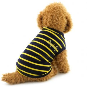 9ec8c5b953 SMALLLEE LUCKY STORE Small Dog Vest Chihuahua Clothes Stripe T-Shirt Doggy  Shirts Pet Clothes
