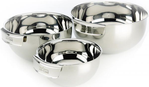 All Clad Mbset Stainless Steel Dishwasher Safe Mixing Bowls Set Kitchen Accessorie 3 Piece Silver