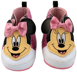 68083e615 أحذية للبنات الصغار بدلة رضع Minnie Mouse من Disney - Minnie Mouse Infant  Shoes 6-9 Months Pink Glitter Minnie Mouse High-top Velcro Sneakers
