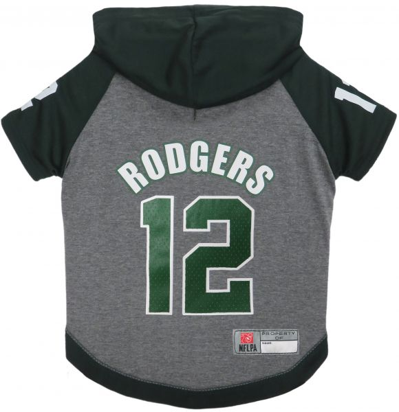 NFL NFLPA AARON RODGERS HOODIE for DOGS   CATS GREEN BAY PACKERS Dog T-Shirt f67e0eede