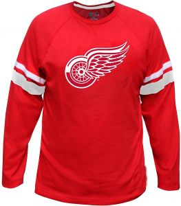 NHL Detroit Red Wings Long Sleeve Tee with Double Arm Stripes 8a6e0521d