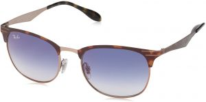 18c20a95ff Ray-Ban 0rb3538 Square Sunglasses, Copper on Top Havana, 53 mm