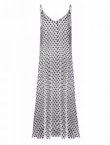 4785cb3eee Women Dress Polka Dot Print V Neck Sleeveless Loose Maxi Long Beach  Bohemian Vintage One-Piece. by Other