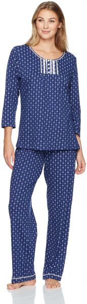 Aria Women s 3 4 Sleeve Long Pajama Set fc4dd11a0
