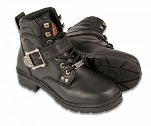 Black, Size 8 MBM9000-BLK-8 Milwaukee Mens 6 Side Zipper Plain Toe Boots