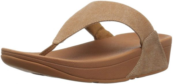 019d9122f74e FitFlop Women s Lulu Toe-Thong Sandals-Shimmer-Denim Flip-Flop ...