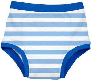 green sprouts Reusable Absorbent Training Underwear, Light Blue Stripe, 24 Months