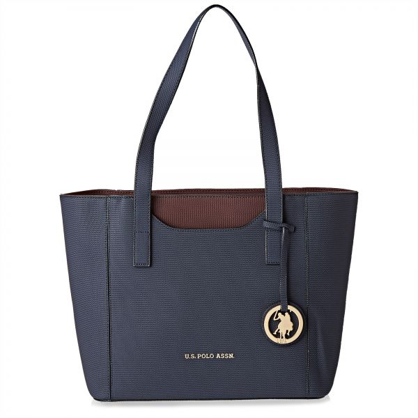 45c6bdfbc4 U.S. Polo Assn. Leather Tote Bag for Women - Navy