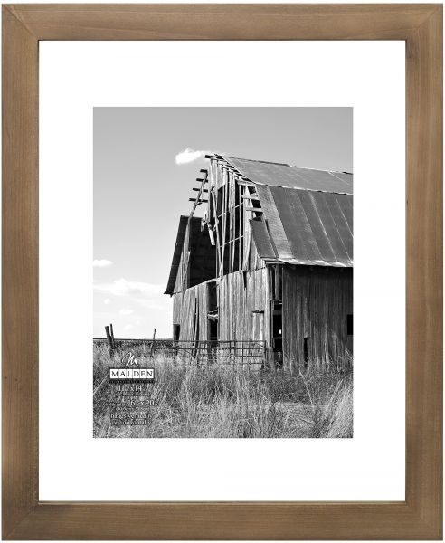 Malden International Designs Rustic Distressed Float Matted Picture