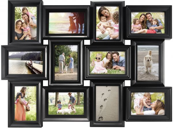 Mcs Mega Collage Frame With 12 4x6 Inch Openings Black 65712