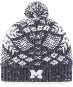9ac270e6291  47 NCAA Michigan Wolverines Women s Georgie Knit Beanie