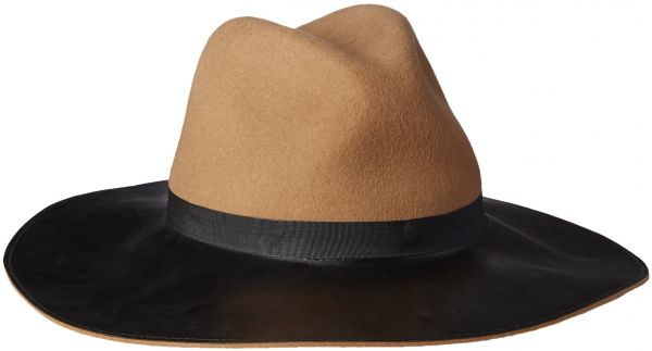 0f974479da Goorin Bros. Women s Miss Mei Wide Brim Fedora Hat with Faux Leather Brim