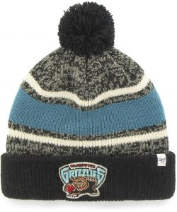 best sneakers 3b954 ddfe7  47 NBA Memphis Grizzlies Fairfax Cuff Knit Beanie with Pom, Black, One Size