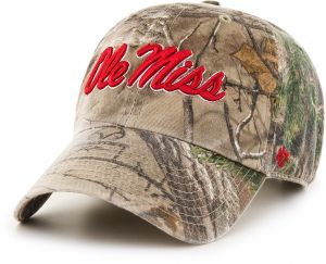 47 NCAA Mississippi Old Miss Rebels Realtree Clean Up Adjustable Hat 0fc0bd533a6c