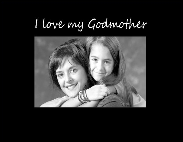 Infusion Gifts C9442sb I Love My Godmother Small Engraved Photo