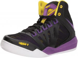 the best attitude acaa2 ed559 AND1 Women s Overdrive Basketball Shoe, Black Amaranth Purple Vibrant  Yellow, 9 M US