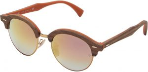 1c41af3012 Ray-Ban Unisex Clubround Wood Copper Gradient Sunglasses - RB4246M 12187O 51 -19-145mm