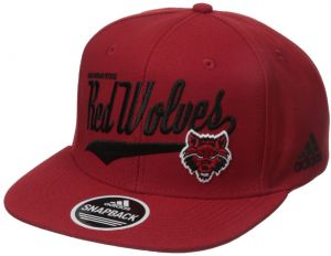 b1cd23e9 NCAA Arkansas State Indians Men's Tail Sweep Logo Structured Adjustable Hat,  Red, One Size