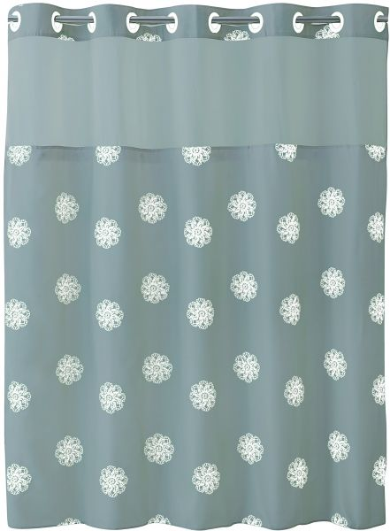 Hookless RBH40MY031 Sunburst Floral Shower Curtain With Peva Liner