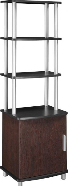Ameriwood Home Carson Audio Stand, Cherry/Black