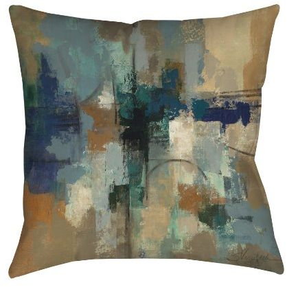 Manual Woodworkers Weavers Square Throw Pillow 18 Inch Jasper