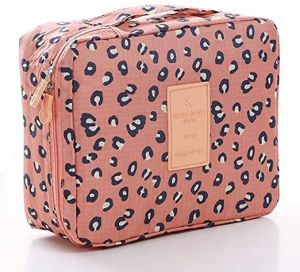 Travel Bag Printed Multifunction Portable Toiletry Bag Cosmetic Makeup Pouch Case Organizer for Travel, Leopard print